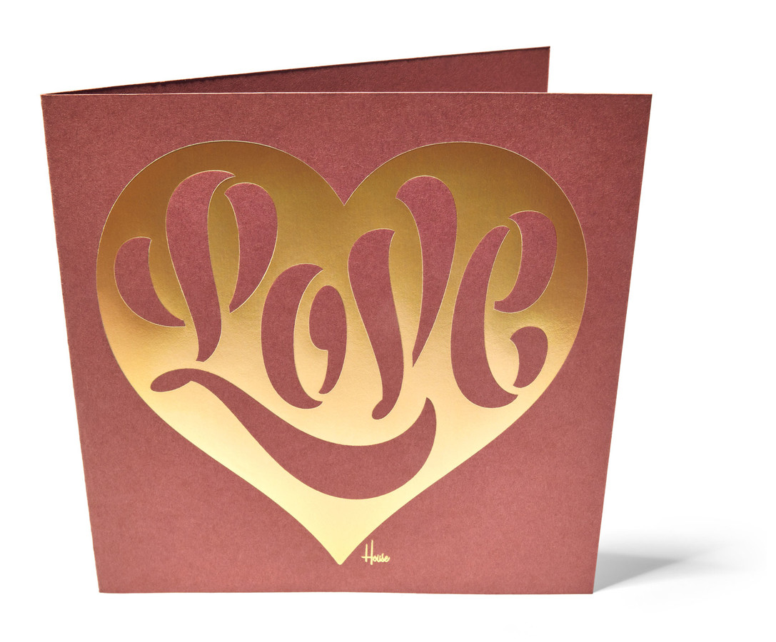 stencil love cards house industries